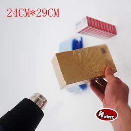 24*29cm PVC heat shrink bags  clear color heat shrink membrane wrap bags plastic shrinkable pouch. Spot 100  package