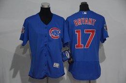 2016 Chicago Cubs Kris Bryant #17 Women's Cool Base Cool Base Player Jersey - Royal Baseball Jerseys free shipping