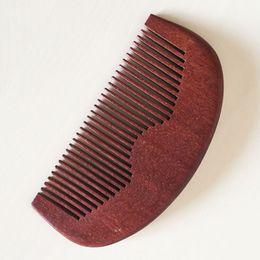 Wooden Grooming Pocket Beard Hair Comb Fine Toot Wholesale High Quality Handmade Green Sandalwood Ox Horn Hair Comb Gift