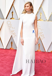 Karlie Kloss Oscars 2017 White Celebrity Evening Dresses Special Occasion  Dress for Prom Party Jewel High Split One-Shoulder Formal Gowns 691148dd88fd