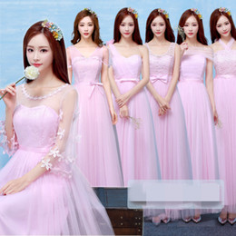 In Stock Bridesmaid Long Dresses High-end evening dress wedding bridesmaid dress 6 types 4 colors 2 Size Weddings & Events