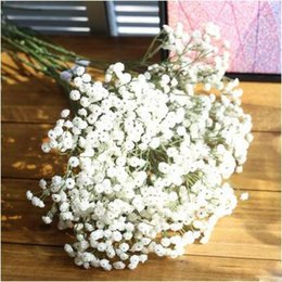 Wholesale whilte cm length hand feeling coating Gypsophila silk flowers artificial flowers for home wedding party decoration