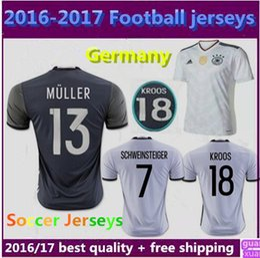 Wholesale Thai Quality new Germany home Soccer Jerseys Away Euro Cup Ozil Reus Muller Kroos Gotze SCHWEINSTEIGER Uniforms football shirts