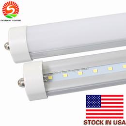 US Stock - 8 feet led tubes single pin t8 FA8 Single Pin LED Tube Lights 45W 4800Lm Bulbs led lights Fluorescent lamp