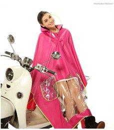 A large transparent brim Raincoat rainwear Motorcycle rainproof