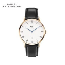 Top luxury brand Daniel ladies hands Wellington watch fashion dw40mm leather Roman digital style black rose gold men watch with gifts