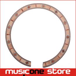 Wholesale 2Pcs Acoustic Guitar Soundhole Rosette Inlay Guitar Body Project Parts