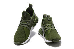 Wholesale Olive Green Mens NMD Running Shoe High Quality Ultra Boost Shoes Sneakerboots Man Autumn Winter Trainers Shoes Size