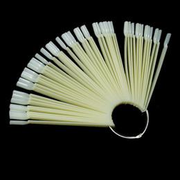 False Display Nail Art ventilateur roue polonaise pratique pointe bâtons Nail Art 50pcs Nail Art conseil conseil bâtons polonais Display Fan Tool 0603063 à partir de pratique bord du ventilateur clou fabricateur