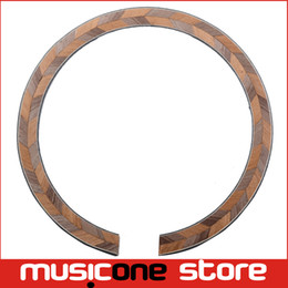 Wholesale 2Pcs Acoustic Guitar Maple and Rosewood Soundhole Rosette Inlay Guitar Body Project Parts
