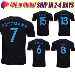 NEW Arrived 2017 FRANCE jersey POGBA thai quality 17 18 FRANCE 3rd black GRIEZMANN PAYET DEMBELE KANTE MATUIDI football shirt