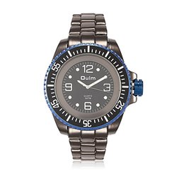 OULM deluxe fashion men's steel watches waterproof quartz watch, free delivery