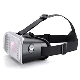 Wholesale MV100 D Glasses Virtual Reality glasses helmet VR BOX headset for smartphone can Adjustable focal length with earphone slot degree vid