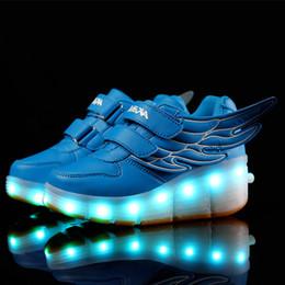 Wholesale Size Basket Roller shoe led children s Light Up Kids Casual Boys Girls Luminous Sneakers Glow Shoe With Wheels enfant