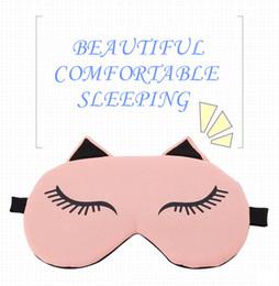Sieste chat à vendre-1209 Cute chat design masque d'oeil voyage reposon midi sieste bon accompagnateur cadeau bouchons d'oreille masque de sommeil confortable fabricant vente directe blinder