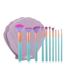 New Showing RCMEI Professional 10 PCS Makeup Brush Set With Lovely Beauty Violet Cosmetics Bags High Quality pincel maquiagem