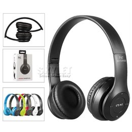 Wholesale P47 Wireless Headphone EDR Bluetooth Headphone FM Stereo Radio MP3 Player Foldable Headset For Iphone7 Samsung Note7 With Retail Package