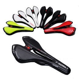 Wholesale Ultralight Carbon fiber Saddle Breathable Cycling Saddles Racing Road PU Leather Seat Bicycle seat