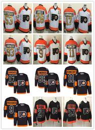 Stade de la série 2017 Philadelphia Flyers 50e Hockey Maillots pas cher 28 Giroux 93 Voracek 17 Simmonds 53 Gostisbehere 11 Konecny 9 Provorov à partir de série de hockey fabricateur