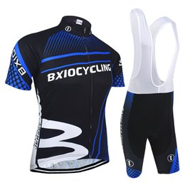 BXIO Brand Pro Team Mountain Road Cycling Jersey Dark Blue Zipper Bike Clothes Sets Men Cycle Jerseys Hot Sale Ropa Ciclismo BX-010