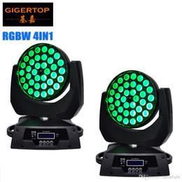 Acheter en ligne Rgbw conduit faisceau mobile de la tête-2pcs / lot 36 * 10W RGBW 4in1 Mini LED Lumière de lavage légère en mouvement Effet de scène Excellente luminosité 15-60 degrés Zoom Funtion