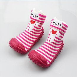 Baby Girl Socks First Walker Solid anti slip Baby Socks With Rubber Soles Infant Socks Shallow Toddler 0-2
