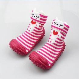 Baby Girl Socks First Walker Solid anti slip Baby Socks With Rubber Soles Infant Socks Shallow Toddler 0-2