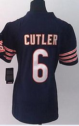 Wholesale Limited Bears Cutler Knox Marshall Jeffery Women Stitched Embroidery Football Jerseys