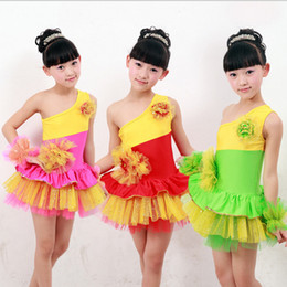 Children's Sequined Modern Jazz Hip Hop Dancewear Girls Ballroom Dance Costume Kids Ballet tutu Princess party dance dress