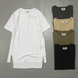 EU Size 2017 High Quality Justin Bieber Multi-directional Split T Shirt 1:1 Men Women FOG Tops Oversized Fear of God Tee Off-white T-shirts