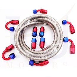 Wholesale Stainless Steel Braided Hose Fuel Oil Line Oil Cooler Pipe Fitting AN AN AN AN AN Meter in stocked ready to ship