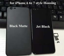 Wholesale Iphone Style Housing For Iphone s s Plus Jet Black Middle Frame Battery Door Case Like Iphone7 DHL Freeshipping