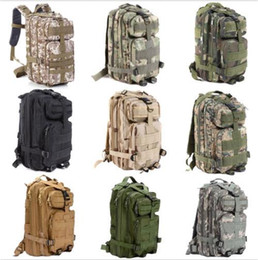 30L Camouflage tactical 3P backpack 600D Nylon Made waterproof tactical backpack outdoor pack war game Camouflage backpack