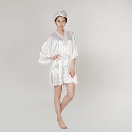 Wholesale Satin Robe Bathrobe Women Pajamas Hotel SPA Plus Robes Pajamas for Women Nightgown Sleepwear Bath Towels