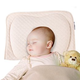 Baby Protective Pillow,Baby Head Shaping Memory Foam Pillow. KEEP an Infant's head round. Prevent Plagiocephaly or Flat Head Syndrome (Beige