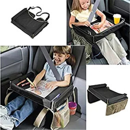 Wholesale Kids Travel Car Seat Portable Play Food Tray Storage Durable Surface with Cupholder Storage Pockets Colors