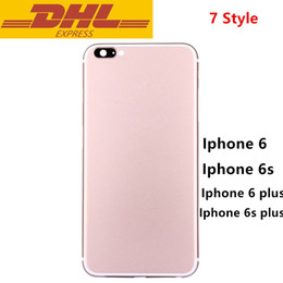 Wholesale For Iphone s s Plus Battery Door Housing Back Cover Case Like Iphone Middle Frame Bezel Aluminum Jet Black Color In Stock