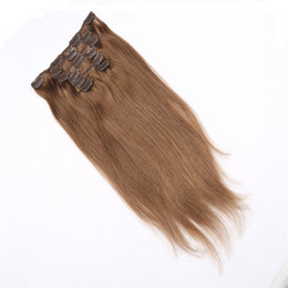Long Straight Clip In Human Hair Extensions #118 Red Wine 70g-220g Optional 100% Brazilian Remy Human Hair Extensions Free Shipping