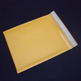 Kraft enveloppe jaune en Ligne-Grossiste-1 Pcs Yellow Bubble Mailers 200X250mm enveloppe en papier kraft