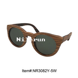 unisex round zebra layered wood eyewear sunglasses