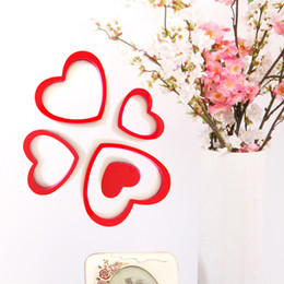 Heart-shaped self-adhesive stickers Fashion simple heart-shaped Wall Stickers Circle three-dimensional wall stickers