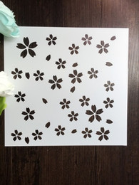 Cheap white drawing stencils for wall Masking template For Scrapbooking,cardmaking,painting,DIY cards-The sakura 113