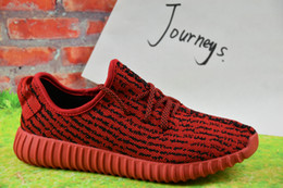 2018 Wholesale Discount Cheap Kanye Milan West Boost 350 Men's & Women's Outdoor Shoes Fasion Sports Running Shoes Free Shipping With Box
