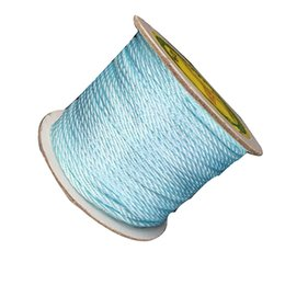 2mm Aqua Blue Twisted Nylon Twine Cord+Macrame Rope Shamballa Bracelet Necklace Chinese Knot String Cords Accessories 50m roll