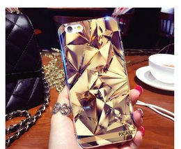 Wholesale Luxury Diamond Blue Ray Light Glare Soft TPU Phone Case for iphone 7 7 Plus Full Body Cover Protective Shell