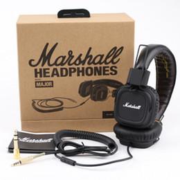 Wholesale Marshall Major headphones With Mic Deep Bass DJ Hi Fi Headphone Stereo Headsets Professional DJ Monitor Headphone DHL