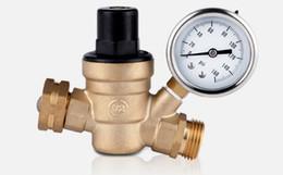 Wholesale High quality way quot DN20 Brass Pressure regulating valve way through way type mpa manual operation pressure regulator valve