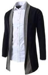 Wholesale- Hot Mens Long Sleeve Cardigan,Males Pull style cardigan Clothings Fashion Sweaters men outerwear Coats M-XXL