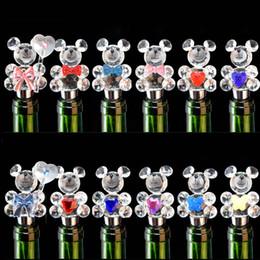 New Arrivée Cristal Verre Bouteille Bouteille Bouteille Bricolage Artisanat De Cristal Pour Cadeau De Mariage 5pcs / lot DEC198 glass wine stoppers for sale à partir de verre bouchons de vin fournisseurs