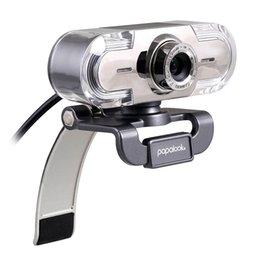 Wholesale papalook PA452 Webcam HD P USB With Mic Web Cam For Notebook Laptop Desktop Automatic Web Camera